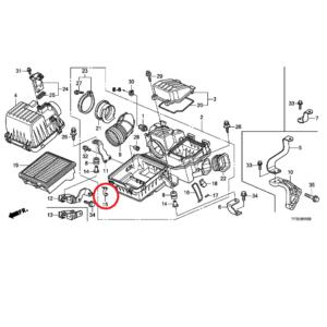 Honda Jazz 2009-2015 Air Filter Clips. 17217-P2J-300