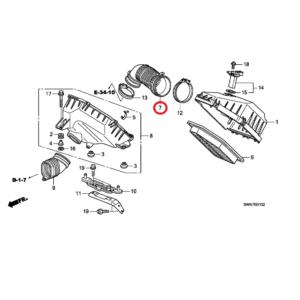 Honda CR-V 2007-2012 Air Flow Tube, 17228-R06-E00