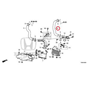 Honda Civic 2012-2016 Intercooler Hose (outlet), 17287-RZ0-G02