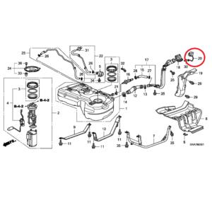 Honda CR-V 2007-2012 Fuel Filler Cap,17670-SMJ-E02