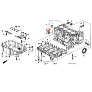Honda Civic 2001-2005 Knock Sensor, 30530-PPL-A01