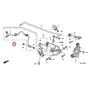 Honda CR-V 2007-2012 Nearside Rear ABS Sensor 57475-SXS-013