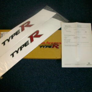 Honda Civic Type R 2006-2011 Type R Side Stickers and Front Grille Emblem Pack